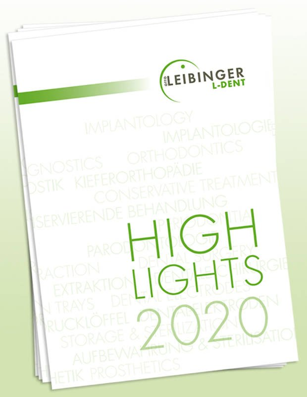 Titelcover Highlights 2020 Leibinger Dentalprodukte